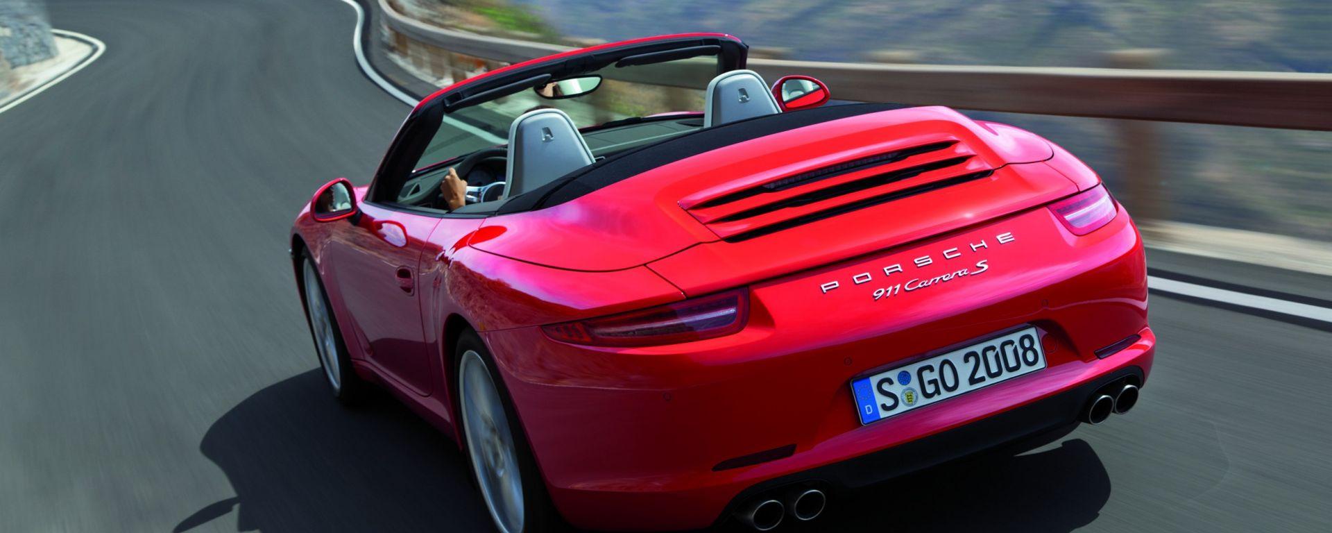 Porsche 911 Cabriolet 2012: foto e video ufficiali