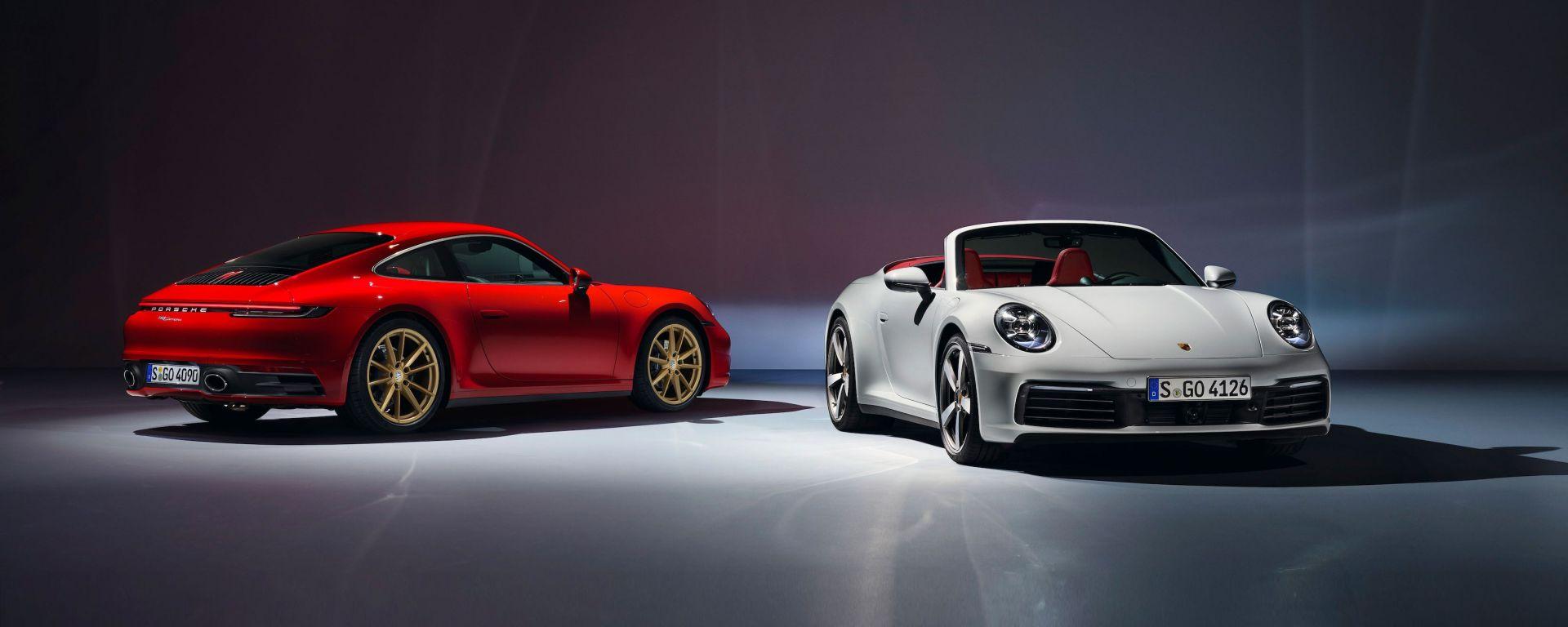 Porsche 911 Carrera Coupé e Cabriolet 2019: le due vetture