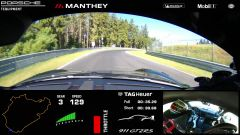 Porsche 911 GT2 RS: frame del video onboard
