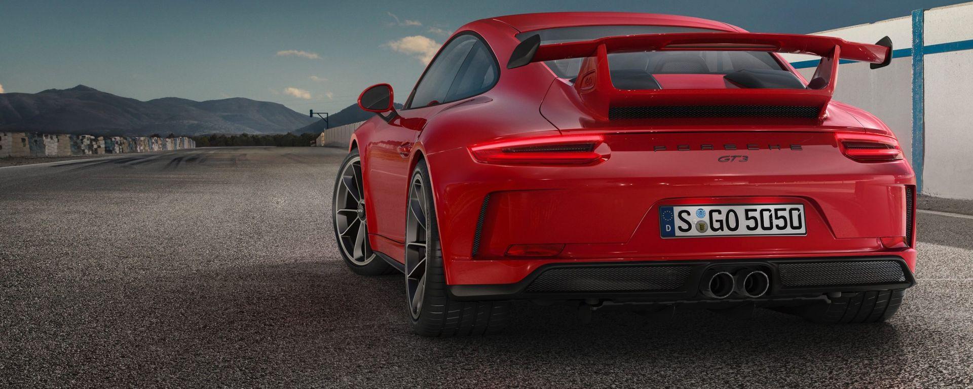 Porsche 911 GT3 2017, alettone posteriore