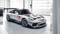 Porsche 911 GT3 Cup - la struttura di acciaio e alluminio permette alla vettura di pesare 1200 kg