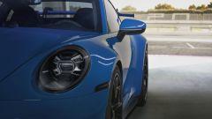 Porsche 911 GT3: particolare dei gruppi ottici anteriori