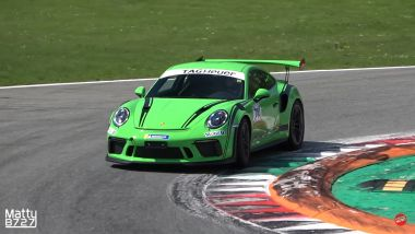 Porsche 911 GT3 RS in pista a Monza