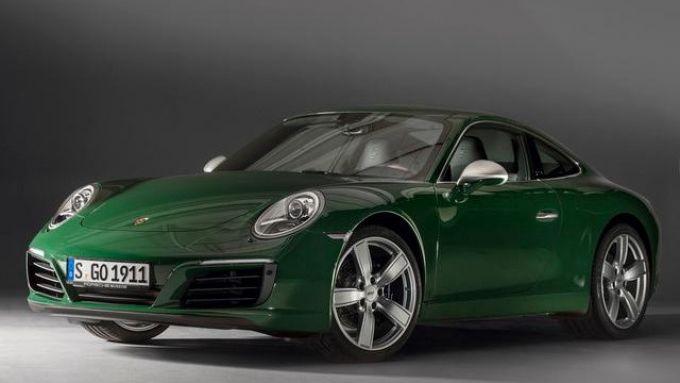 Porsche 911 serie 991: un allestimento commemorativo, non in vendita, con carrozzeria verde
