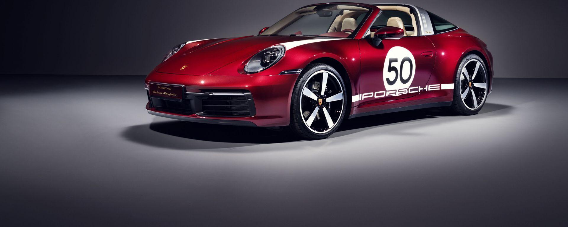 Porsche 911 Targa 4S Heritage Design Edition: il frontale