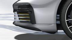 Porsche 911 Turbo S 2020, le prese d'aria vengono regolate in funzione delle necessità di raffreddamento