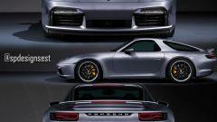 Porsche 911 Turbo S e 928 insieme: il rendering