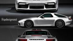 Porsche 911 Turbo S e 928 insieme in un rendering di Spdesignsest