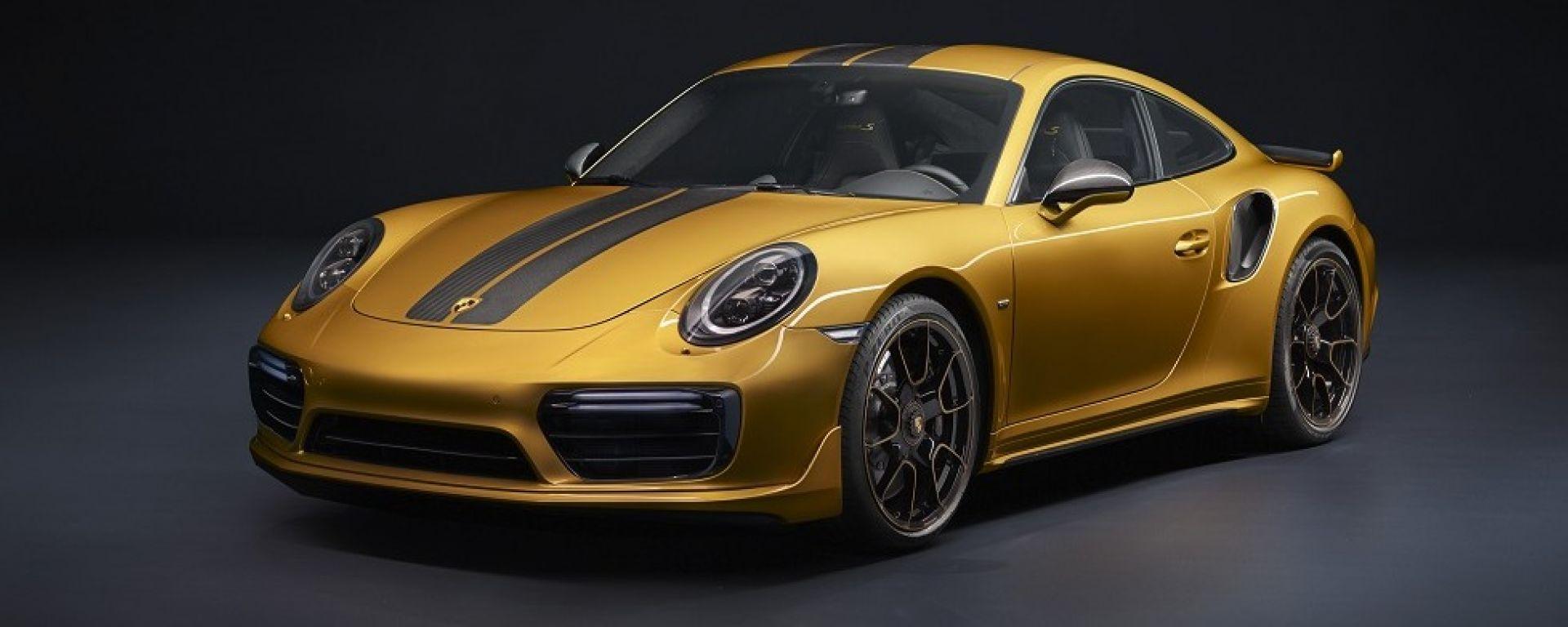 Porsche 911 Turbo S Exclusive Series, vista tre quarti frontale