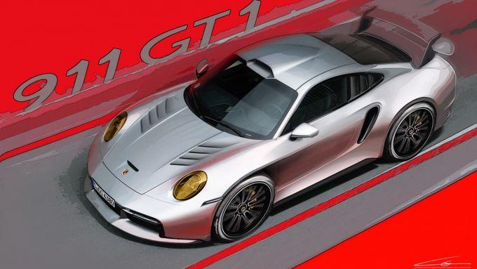 Porsche 911 Turbo S o GT1 stradale? Il rendering