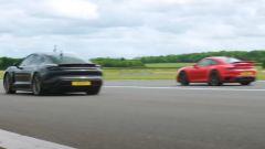 Porsche 911 Turbo S vs Taycan Turbo S: drag race by CarWow