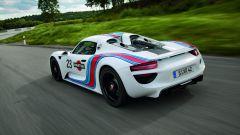 Porsche 918 Spyder: vista 3/4 posteriore
