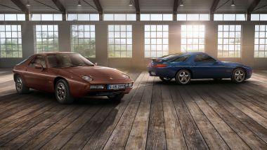 Porsche 928: la prima, a sinistra, e l'ultima GTS a destra