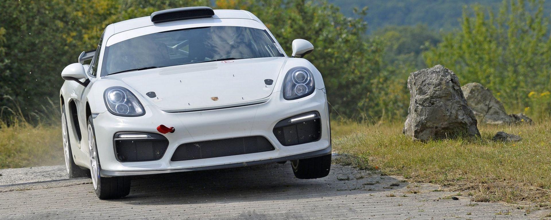 Porsche Cayman GT4 Clubsport Rally Concept pronta al debutto