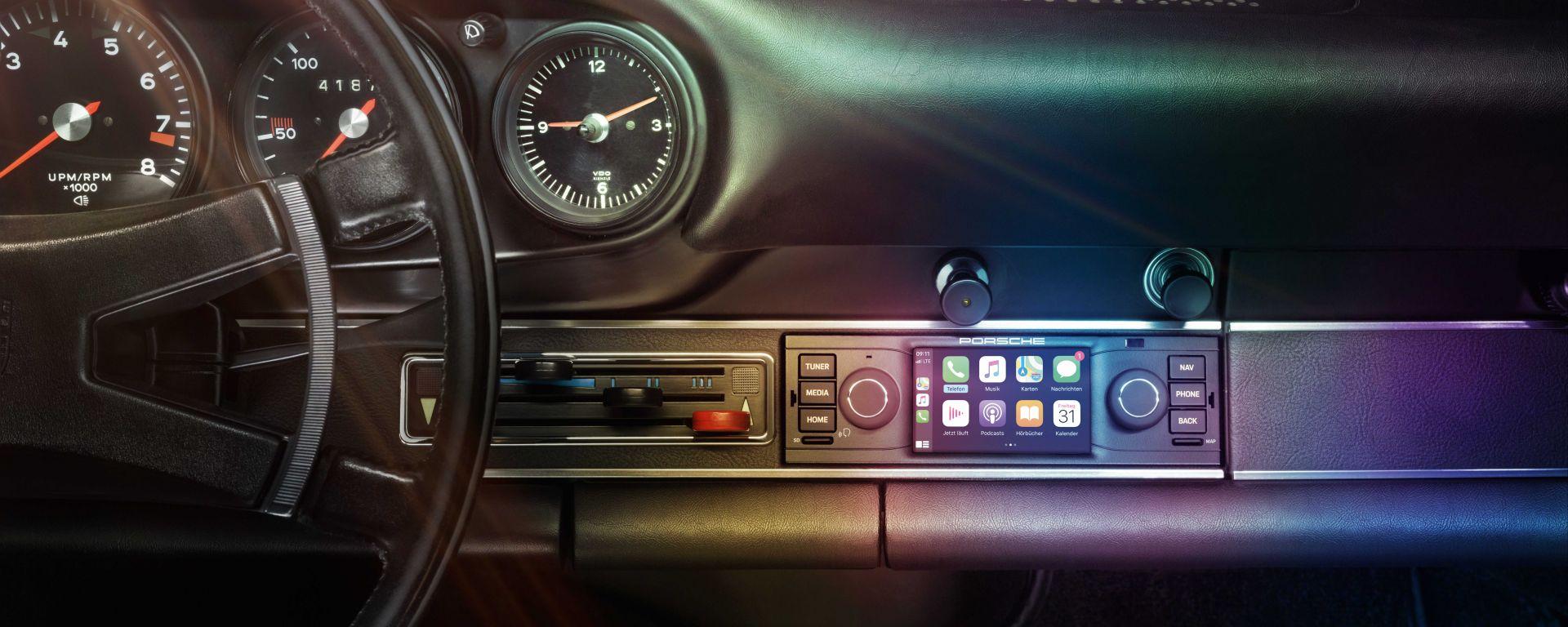 Porsche Classic Communication Management Classica, per le 911 con alloggiamento 1-DIN