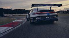 Porsche efuel: la 911 GT3 Cup in azione in pista