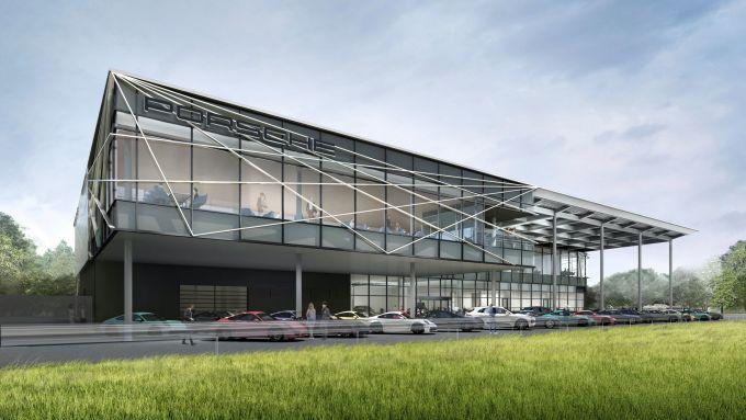 Porsche Experience Center: l'edificio principale del centro giapponese in costruzione