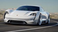 Porsche Mission E Concept: vista 3/4 anteriore