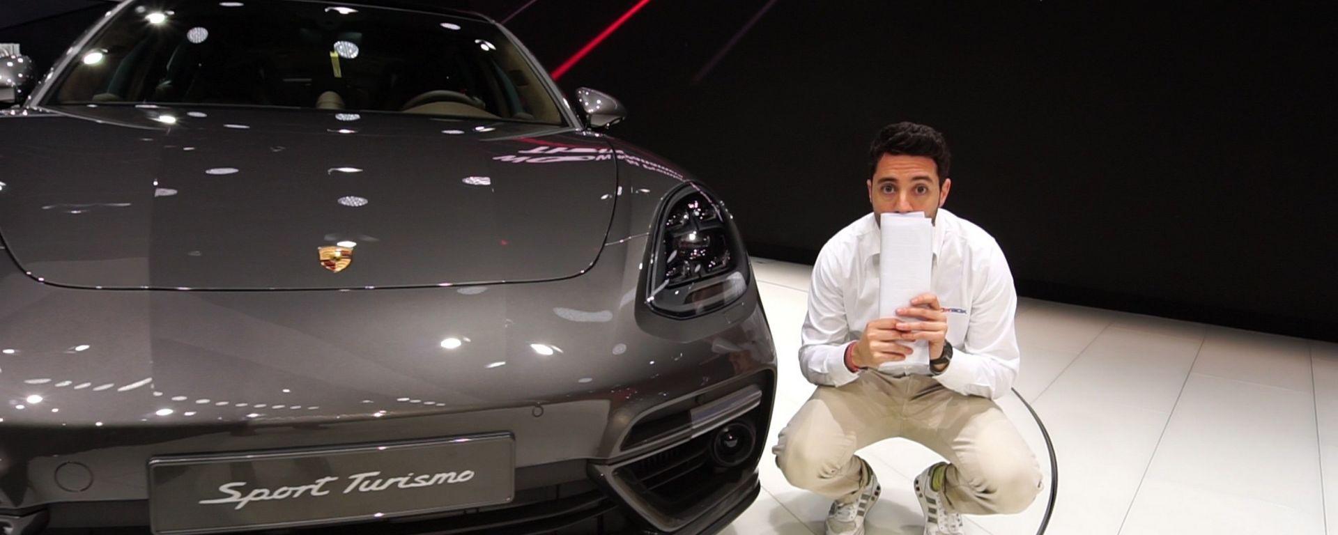 Porsche Panamera Sport Turismo, Salone di Ginevra 2017, video live dallo stand Porsche