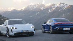 Porsche Taycan: lo stile anteriore e posteriore