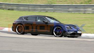 Porsche Taycan Sport Turismo, un esemplare avanserie in collaudo al Nurburgring