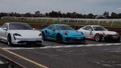 Porsche Taycan vs 911 GT3 RS vs 911 GT3 Cup: la sfida in pista