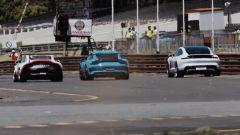 Porsche Taycan vs 911 GT3 RS vs 911 GT3 Cup: l'arrivo della prima gara