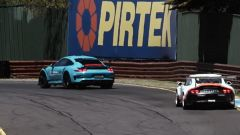 Porsche Taycan vs 911 GT3 RS vs 911 GT3 Cup: staccata all'ultimo metro per le due 911