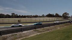 Porsche Taycan vs 911 GT3 RS vs 911 GT3 Cup: un momento del giro di pista