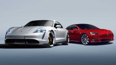 Porsche Taycan vs Tesla Model S: le super berline elettriche