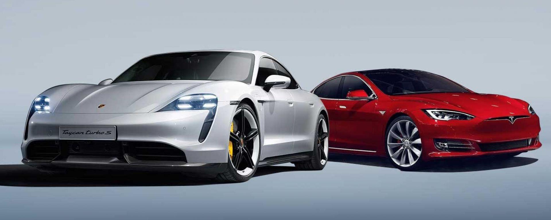 Porsche Taycan vs Tesla Model S: le super berline elettriche