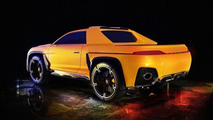 Porsche Traycan, il rendering di Adel Bouras