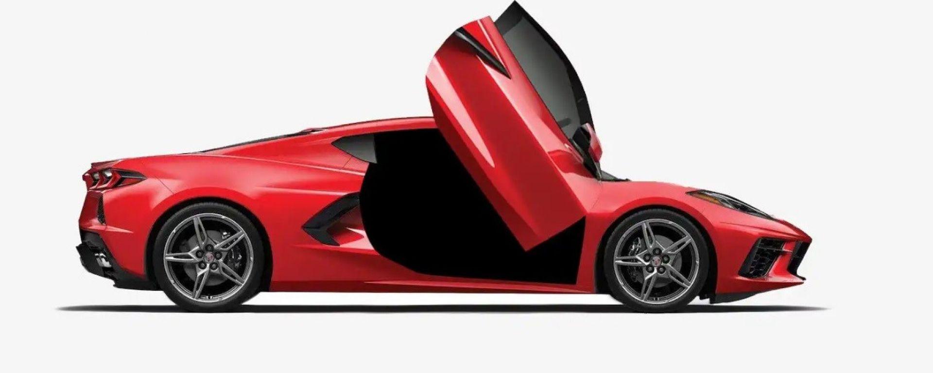 Corvette C8 come Lamborghini: arrivano le portiere a forbice