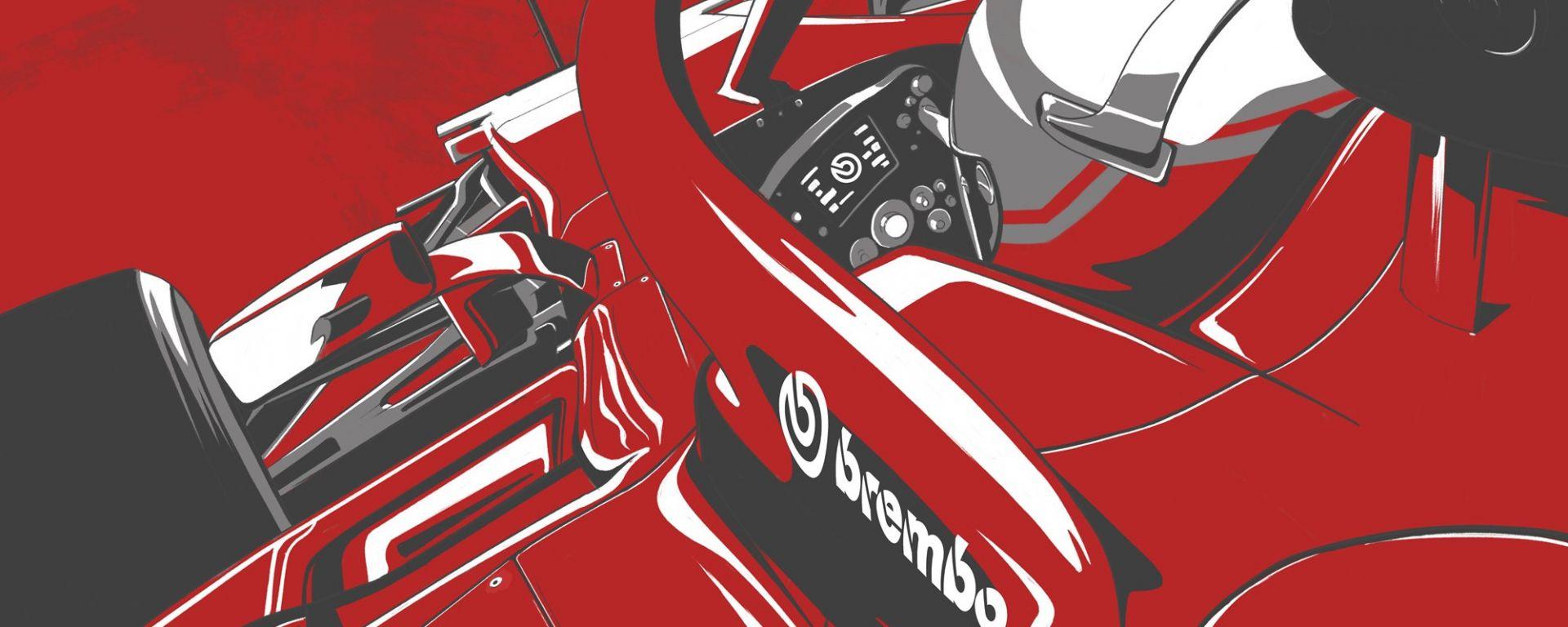 Poster Forza G Ferrari by Brembo