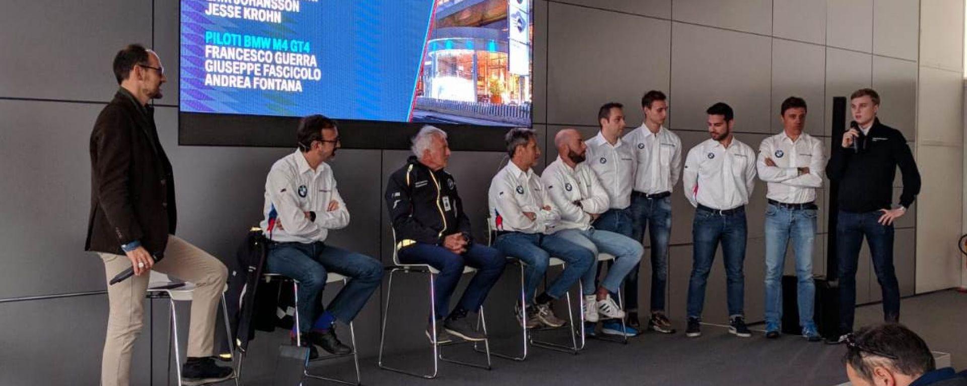 Presentati gli equipaggi BMW Team Italia per l'italiano GT