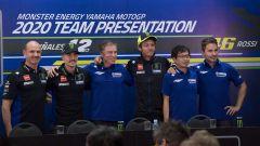 Presentazione del team Yamaha 2020 con Meregalli, Vinales, Jarvis, Rossi, Sumi e Lorenzo