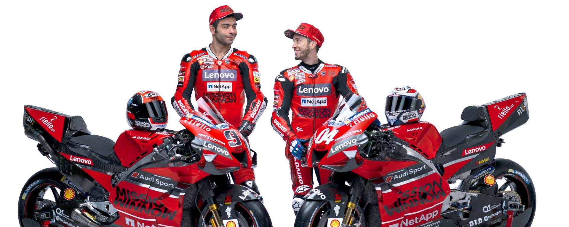 Presentazione Ducati Desmosedici GP20, Andrea Dovizioso e Danilo Petrucci