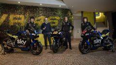 Presentazione Livree Team Sky Racing VR46 2021 con Luca Marini, Marco Bezzecchi e Celestino Vietti