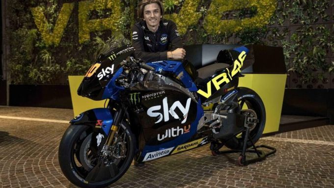 Presentazione Livree Team Sky Racing VR46 2021, Luca Marini