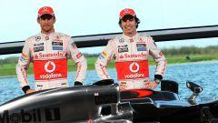 Presentazione McLaren 2013, Jenson Button e Sergio Perez
