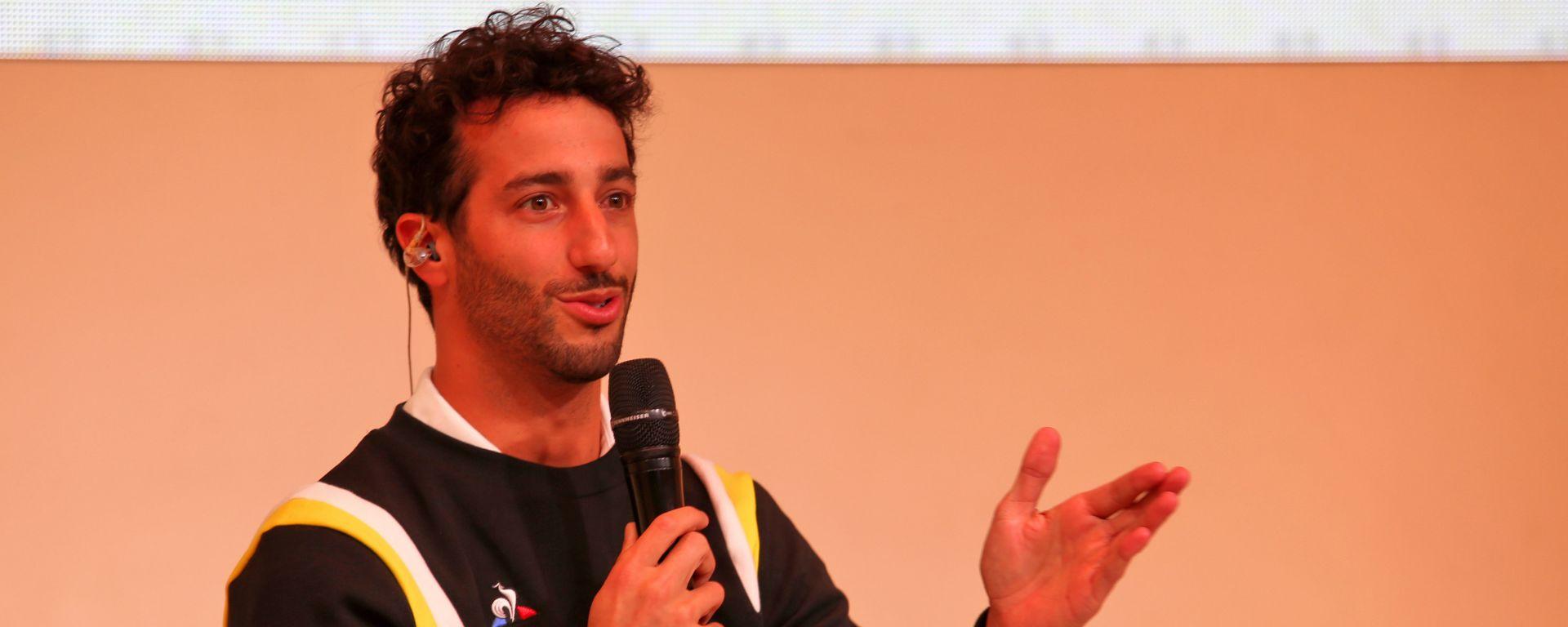 Presentazione Renault F1 2020: Daniel Ricciardo durante la conferenza