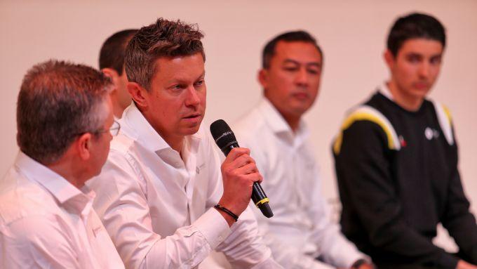 Presentazione Renault F1 2020: Marcin Budkowski durante la conferenza