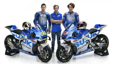 Presentazione Team Suzuki Ecstar MotoGP 2020, Joan Mir, Davide Brivio e Alex Rins