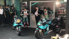 Presentazione Yamaha Petronas SRT MotoGP 2020, Fabio Quartararo e Franco Morbidelli