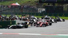 Prima curva dopo la partenza - GP Belgio