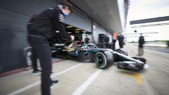 Protocol Run Mercedes a Silverstone, day-1. Valtteri Bottas e Toto Wolff