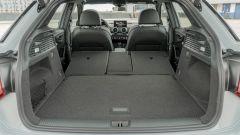 Prova Audi Q2 35 TFSI S tronic S line: il bagagliaio con i sedili abbassati