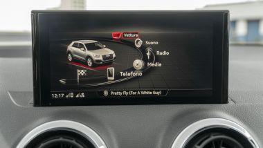 Prova Audi Q2 35 TFSI S tronic S line: lo schermo centrale dell'infotainment