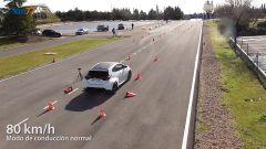 Prova dell'alce della Toyota GR Yaris: un fotogramma del video