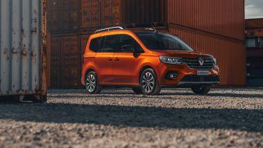 Prova di Renault Kangoo 2021: visuale di 3/4 anteriore